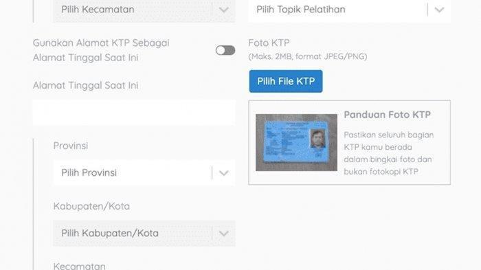 Cara Mengatasi Bila Gagal Unggah Foto KTP di www.prakerja.go.id, Login Kartu PraKerja