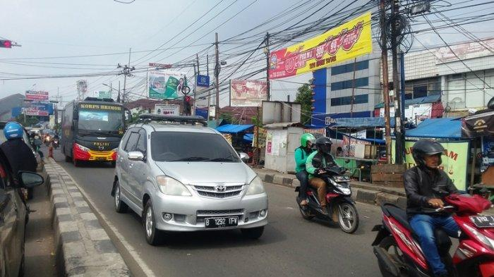 Tak Ada Hambatan Lalin Dari Pasar Ciluar Bogor Menuju Simpang Warung Jambu