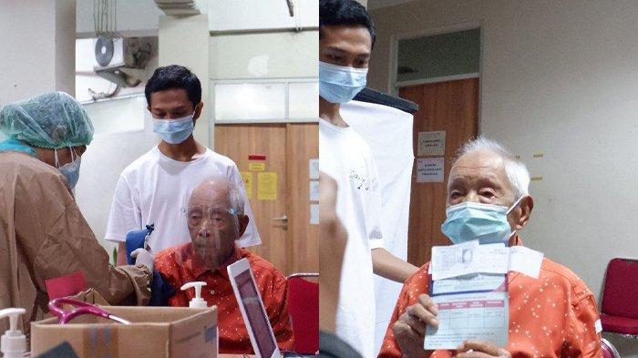 Cerita Karyawan Rumah Sakit Lihat Lansia 104 Tahun Jalani Vaksinasi, Antusias dan Menebar Senyum