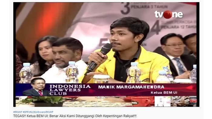 Ketua BEM UI Bantah Demo di DPR Ditunggangi, Yasonna : Membakar Sampai Ada Korban Emang Tujuanmu?
