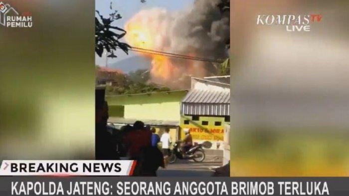 Video Detik-detik Ledakan di Mako Brimob Polda Jawa Tengah, Anak-anak Main Bola Langsung Tiarap