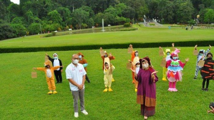 LSS Reboeng Ajak Anak-Anak Mendongeng di Kebun Raya Bogor