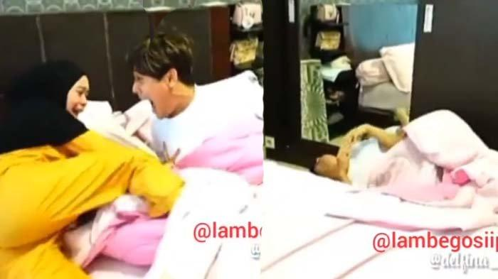 Lesty Kejora tendang Rizky Billar yang tidur seranjang dengannya