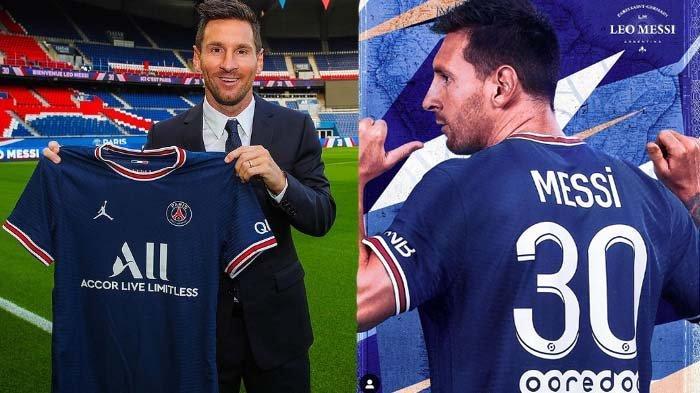 SAH ! Lionel Messi Jadi Pemain Baru PSG, Pilih Nomor Punggung 30, Gajinya Rp 630 Miliar Per Tahun