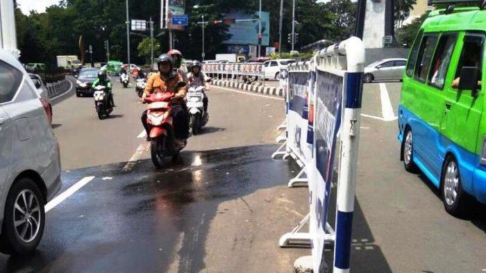 Pipa PDAM Tirta Pakuan Bocor, Jalan Otista Bogor saat Ini Becek