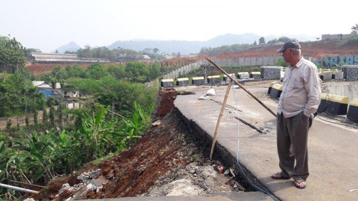 Jembatan Paranje Rumpin Bogor Rusak karena Longsor, Akses Menuju Leuwiliang Terputus