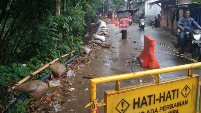 Sudah 17 Hari, Longsor di Jalan Katulampa Belum Diperbaiki, Begini Kondisi di Lokasi