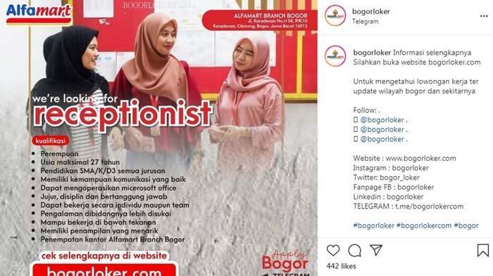Lowongan Kerja Alfamart di Bogor untuk Lulusan SMA/SMK, Simak Kualifikasinya di Sini