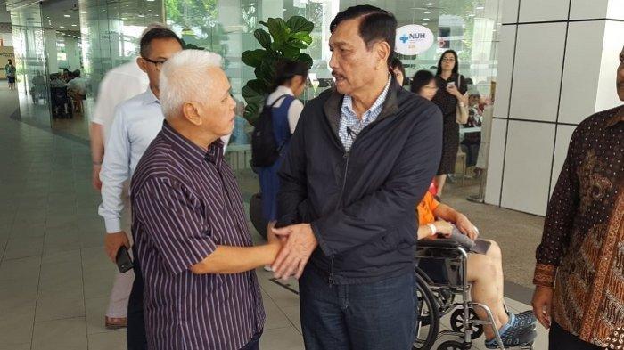 Jenguk Ani Yudhoyono di Singapura, Luhut Beberkan Kondisi Istri SBY: Bu Ani Sekarang Sedang Ditolong