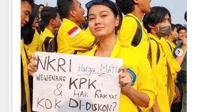 Kecantikannya saat Demo Diperbincangkan, Mahasiswi Ini Kecewa: Bukan Topik yang Ditulis Jadi Objek!