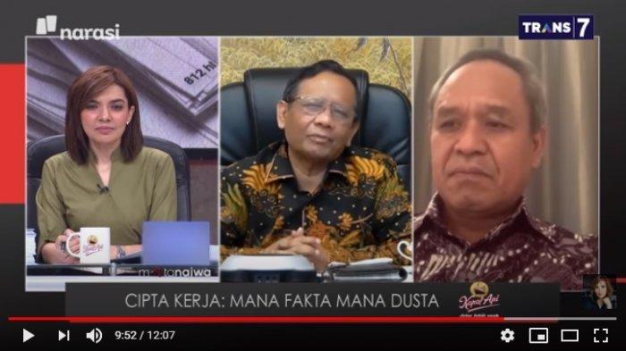 Kantongi Daftar Aktor Demo Tolak UU Cipta Kerja, Mahfud MD : Tidak Ada Nama Pak SBY