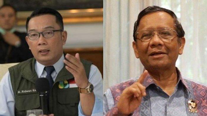 Balas Ridwan Kamil Soal Tanggung Jawab Kerumunan Rizieq Shihab, Mahfud MD : Dimana Salahnya ?