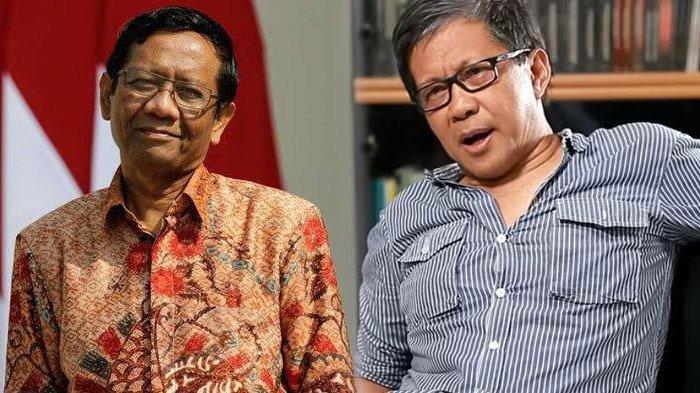 Sepakat dengan Ridwan Kamil, Rocky Gerung Sindir Mahfud MD : Keahliannya Menghindar
