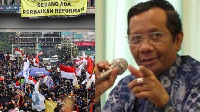 Jokowi Singgung Isu Demo untuk Gagalkan Pelantikan, Mahfud MD : Mahasiswa Beda dengan Gerakan Lain