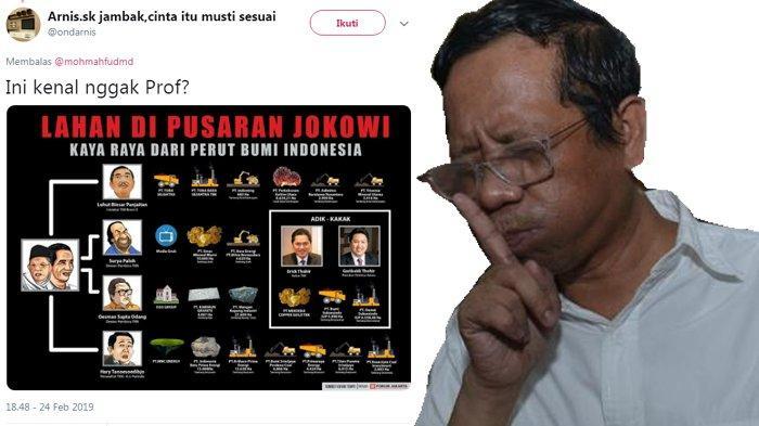 Mahfud MD Salah Tulis Nama Tokoh Saat Ditanya Soal Skema Lahan di Pusaran Jokowi, Dikoreksi Netizen