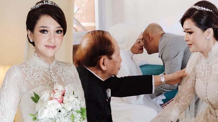 Maia Esianty saat menikah dengan Irwan Mussry didampingi ayah dan ibunya