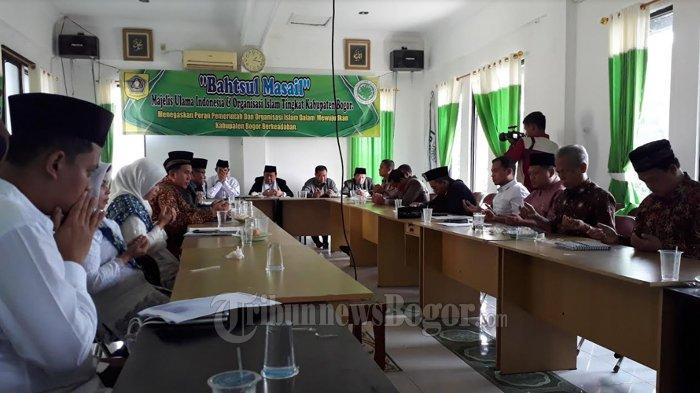 Jaga Kondusifitas, MUI Kabupaten Bogor Gelar Diskusi Pasca Pembakaran Bendera di Garut