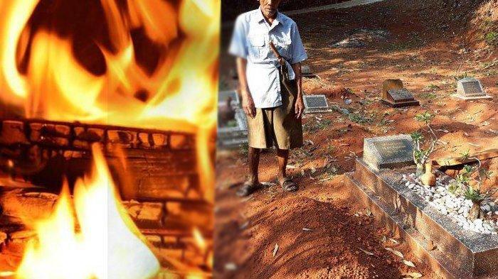 Cerita Penggali Kubur Bocah Tewas Terbakar saat Dipasung, Gundukan Tanah Tanpa Nisan di Samping Ibu