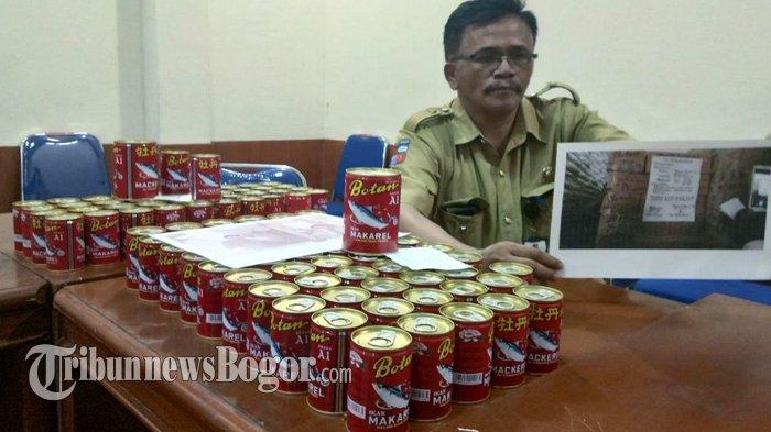 Disperindag Kota Bogor Sita 100 Dus Makarel Kemasan Kaleng