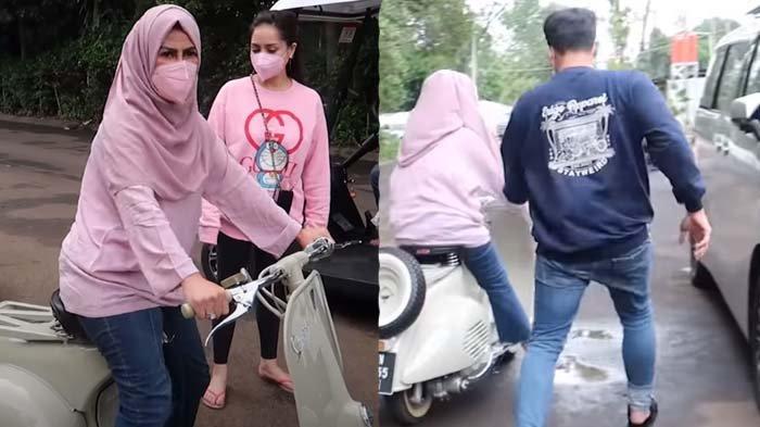 Mama Amy Hampir Nabrak Mobil, Raffi Ahmad Panik, Lari Kejar Ibunda : Motor Mahal Gue Kacau !