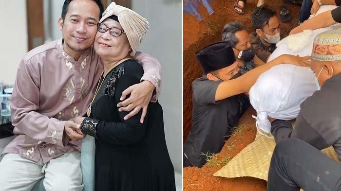 Antar Kepergian Ibunda, Denny Cagur Turun ke Liang Lahat, Shanty : Mamah Udah Enggak Sakit Lagi