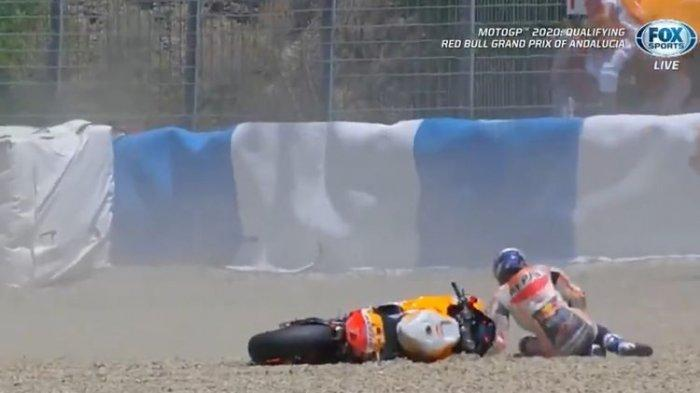 Kualifikasi MotoGP Andalusia, Alex Marquez Terjatuh di Tikungan Kelima Sirkuit Jerez