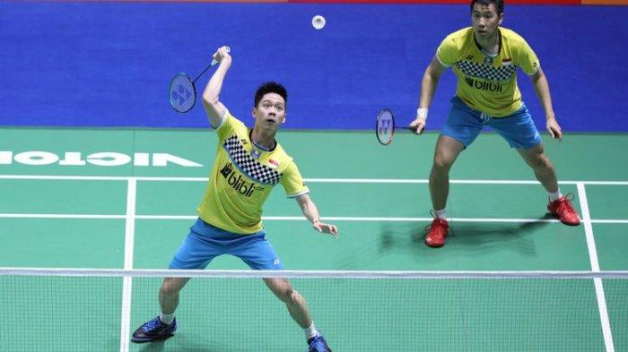 Jadwal Siaran Langsung Final Fuzhou China Open 2019 - Live Streaming Marcus/Kevin vs Takeshi/Sonoda