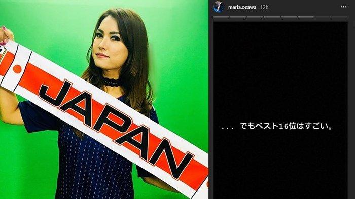 Jepang Gagal Melaju ke Perempat Final Piala Dunia, Unggahan Maria Ozawa Bikin Salut