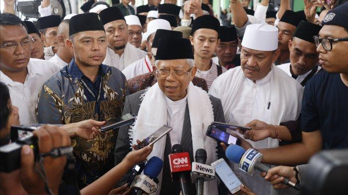 MK Masih Bacakan Putusan Perkara Pilpres 2019, Paspampres Berdatangan ke Rumah Ma'ruf Amin