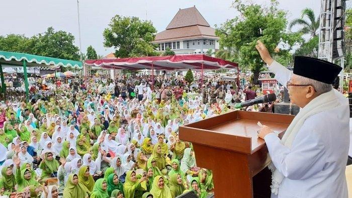 Maruf Amin Kembali Sindir Soal Indonesia Bubar 2030 di Hadapan Warga NU di Kendal