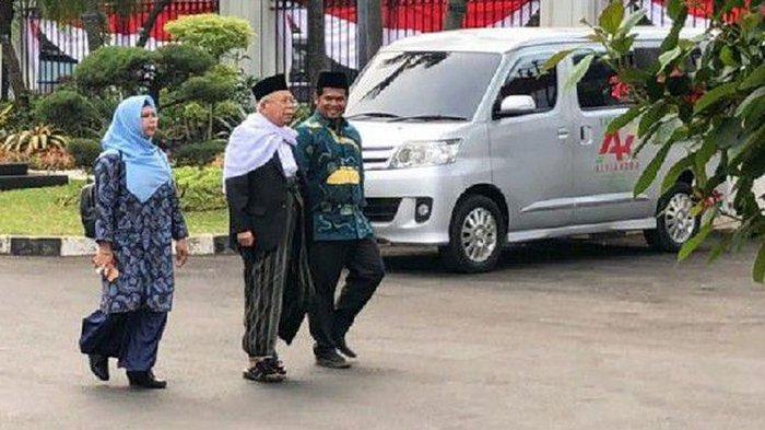Jelang Pengumuman Cawapres Jokowi, Ma'ruf Amin Sambangi Istana