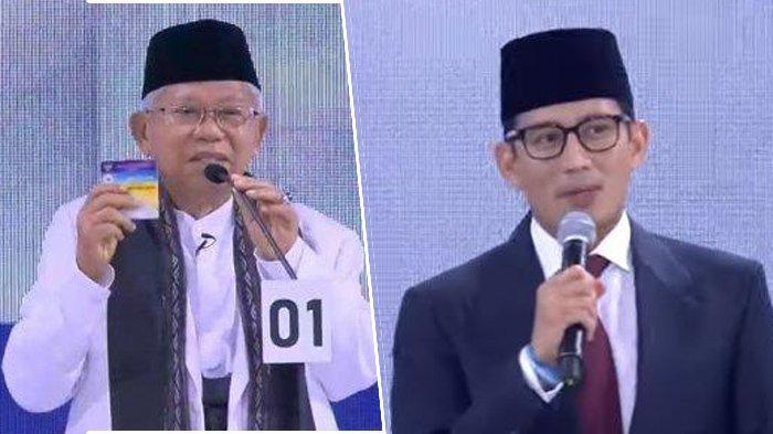 Survei Indo Barometer: Maruf Amin Lebih Populer dari Sandiaga Uno