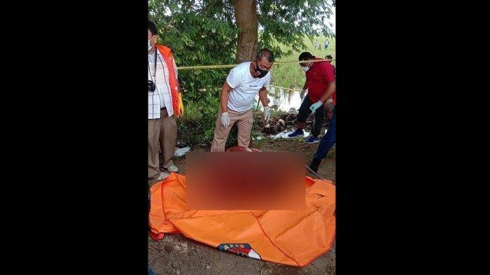 Mayat Terbungkus Kasur Ditemukan di Tersier Sawah Desa Bayur Kidul Kecamatan Cilamaya Kulon, Karawang.