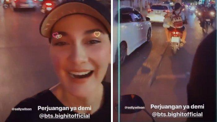 Luna Maya nonton konser BTS di Thailand