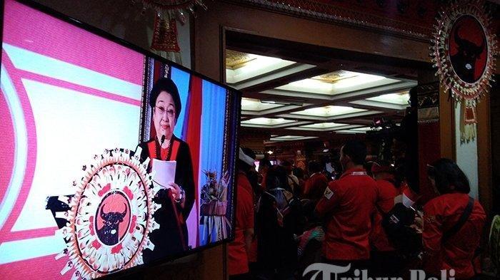 Megawati Sambut Prabowo Saat Pidato Kongres V PDIP di Bali: Capek Ya Tempur Terus