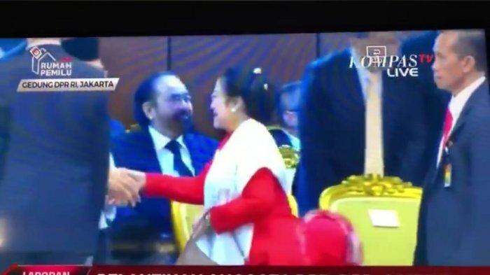 Viral Video Megawati Buang Muka di Depan Surya Paloh, Ini Ekspresi AHY Saat Uluran Tangannya Ditolak