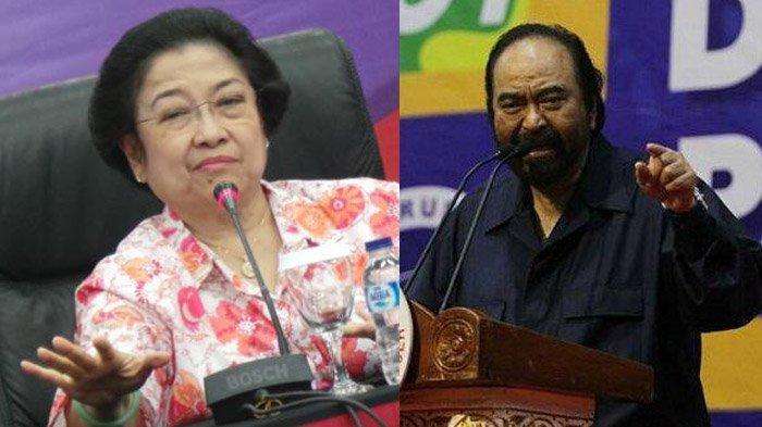 Surya Paloh dengan Megawati - Adu Pertemuan dengan Tokoh hingga Buang Muka Saat Pelantikan DPR 2019