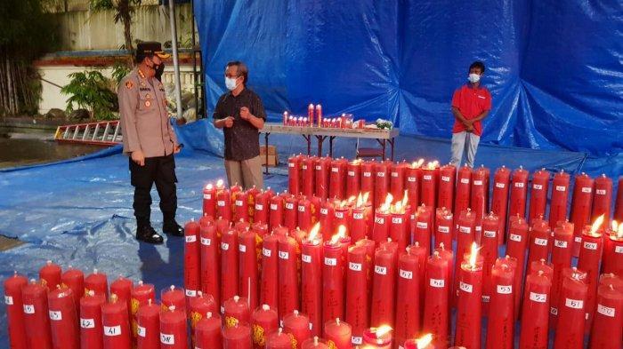 Pastikan Penerapan Protokol Kesehatan, Kapolresta Bogor Kota Sambangi Vihara Dhanagun