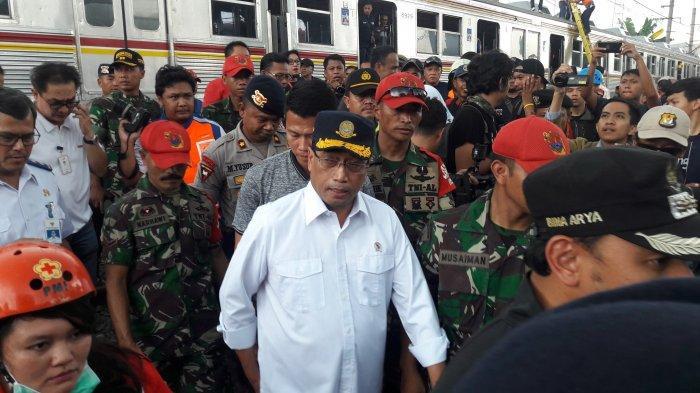 Kereta Anjlok di Kebon Pedes Bogor, Menhub Budi Karya Sumadi Minta Maaf