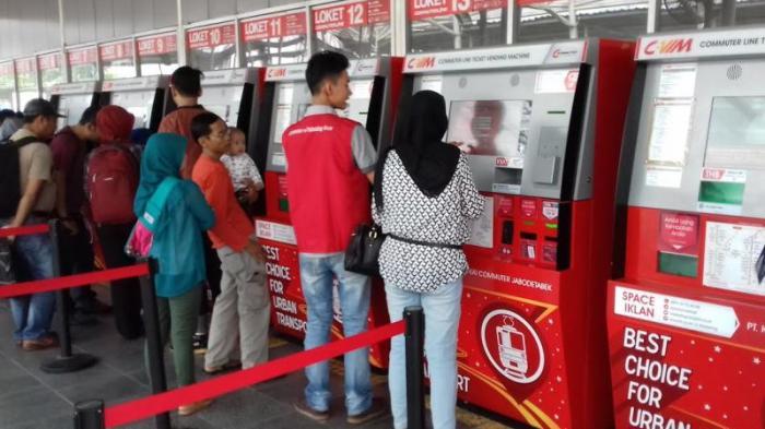 Tiket Kereta Commuter Line Bisa Dipakai Pulang Pergi Saat Musim Libu Lebaran