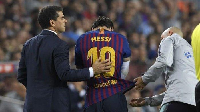 Dikepung Tiga Pemain Real Madrid, Lionel Messi Tampak Mati Kutu Lalu Tumbang