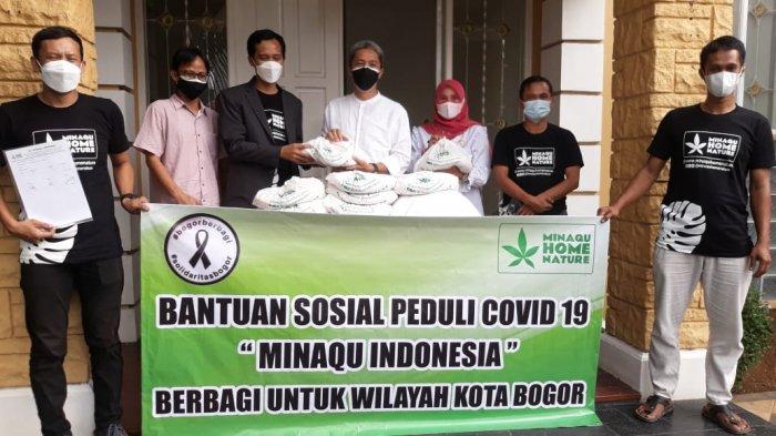 Minaqu Home Nature Salurkan Bantuan Beras untuk Warga Kota Bogor Terdampak Covid-19