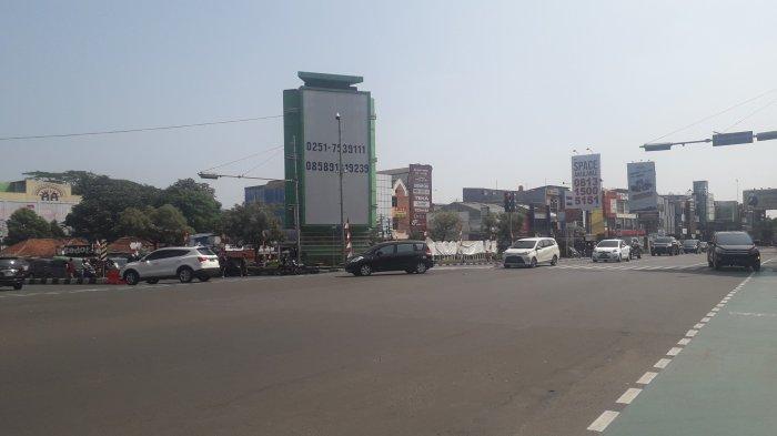 Info Lalu Lintas - Simpang Warung Jambu Kota Bogor Saat Ini Ramai Lancar, Cuaca Cerah