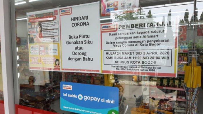 Cegah Corona, Jam Operasional Swalayan dan Minimarket di Kota Bogor Dibatasi Hingga Pukul 20.00 WIB