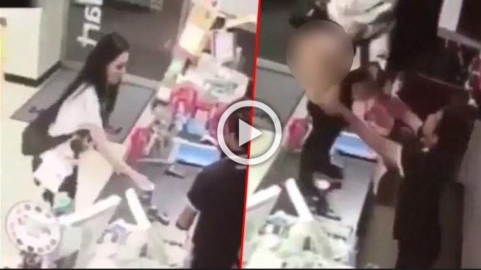 Bertengkar Dengan Kasir Supermarket, Lihat Apa yang Dilakukan Wanita Cantik Ini Setelah Naik Meja
