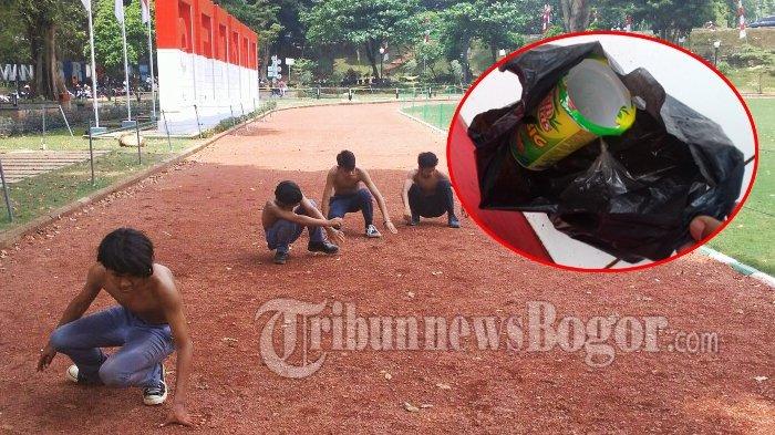 Tenggak Miras Ciu, Lima Pelajar Ini Disuruh Jalan Jongkok Keliling Lapangan Sempur Bogor