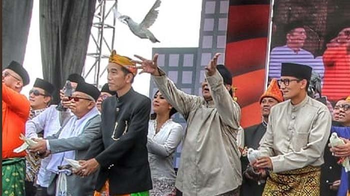 Burung Merpati Ma'ruf Amin Tak Bisa Terbang di Deklarasi Kampanye Damai, Jadi Bahan Perbincangan