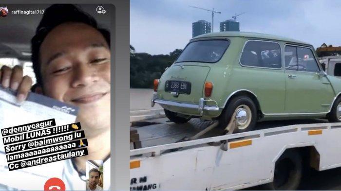 Denny Cagur Menangkan Mobil Morris yang Diperebutkan, Raffi Ahmad Sindir Baim Wong: Lu Lama Sih !