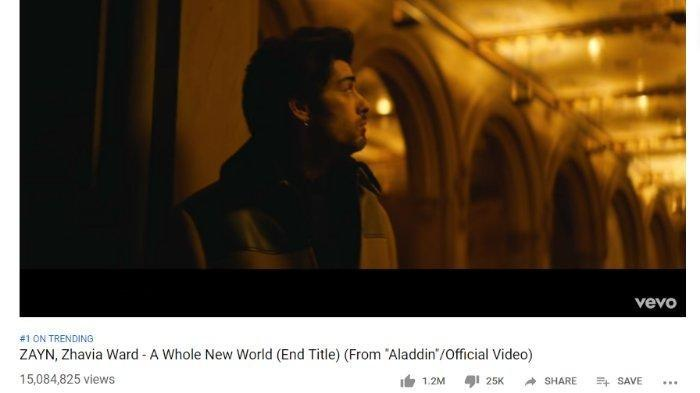 Download Lagu A Whole New World, MP3 OST Aladdin - Zayn Malik Lengkap dengan Lirik