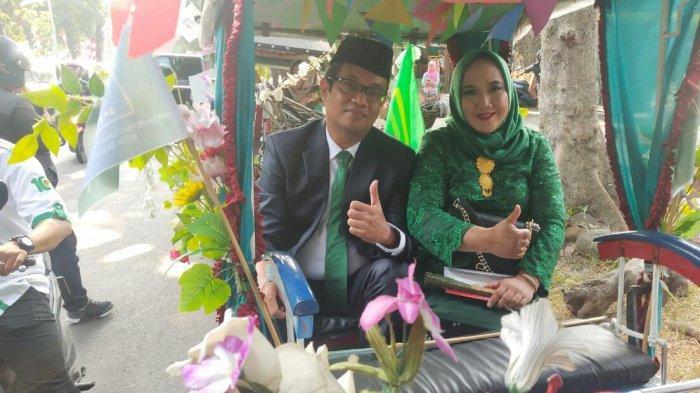 Anggota DPRD Kota Bogor 2019-2024 Dilantik, Politisi PPP Naik Delman